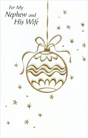 Gold Foil Ornament: Nephew Christmas Card by Freedom Greetings