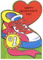 Sneaker with Award (1 card/1 envelope) - Valentine's Day Card