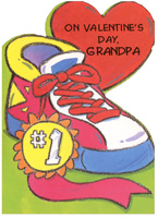 Sneaker with Award: Grandpa (1 card/1 envelope) Freedom Greetings Valentine's Day Card