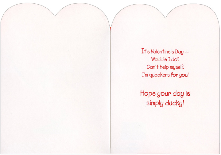 valentines card inside