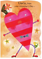 Valentine Man: Uncle (1 card/1 envelope) Freedom Greetings Valentine's Day Card