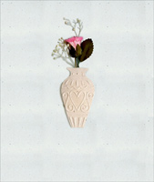 Rose in Vase Embellished (1 card/1 envelope) - Valentine's Day Card