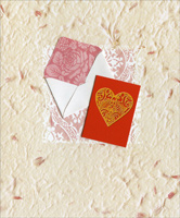 Valentine with Envelope Embellished (1 card/1 envelope) - Valentine's Day Card