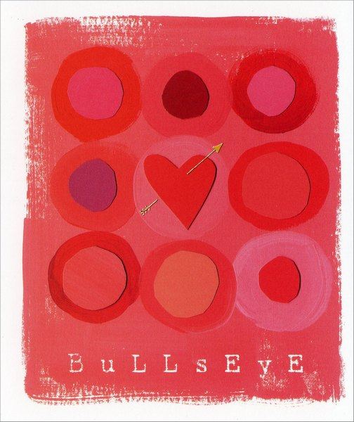 Bullseye (1 card/1 envelope) - Valentine's Day Card - FRONT: Bullseye  INSIDE: Happy Valentine's Day, Hotshot!