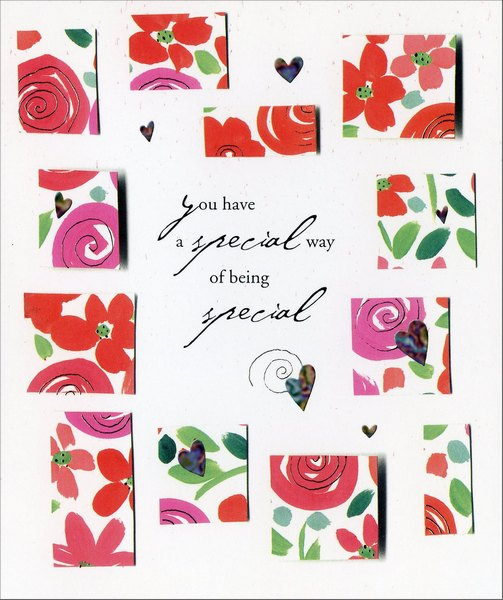 Special Way of Being Special (1 card/1 envelope) - Valentine's Day Card - FRONT: you have a special way of being special  INSIDE: �especially to me! Happy Valentine's Day