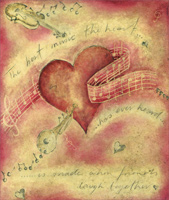 Heart Music (1 card/1 envelope) Freedom Greetings Valentine's Day Card