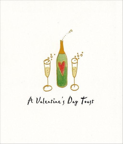 Valentine's Day Toast (1 card/1 envelope) - Valentine's Day Card - FRONT: A Valentine's Day Toast  INSIDE: to us!