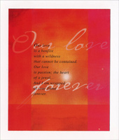 Our Love Forever (1 card/1 envelope) Freedom Greetings Valentine's Day Card
