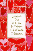 Heart Border: Enjoying Life's Simple Pleasures (1 card/1 envelope) - Valentine's Day Card