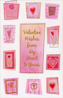 Flowers and Hearts: Valentine Wishes (1 card/1 envelope) - Valentine's Day Card