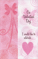 Butterflies & Heart with Swirls: Like to Celebrate (1 card/1 envelope) - Valentine's Day Card