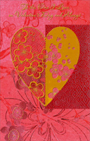 Flowers in Heart: One I Love (1 card/1 envelope) - Valentine's Day Card