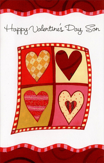four hearts; twotwo: son valentine's day cardfreedom greetings, Ideas