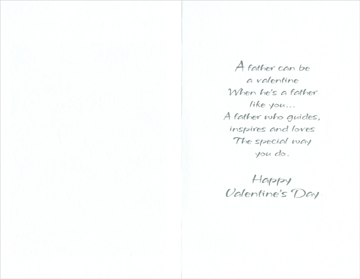 Artistic Flower: Father (1 card/1 envelope) Freedom Greetings Valentine's Day Card - FRONT: With Love, Father on Valentine's Day  INSIDE: A father can be a valentine when he's a father like you� A father who guides, inspires and loves the special way you do. Happy Valentine's Day