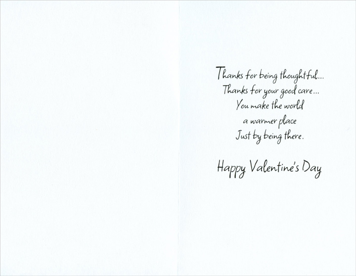 Backyard Animals: Caregiver (1 card/1 envelope) Freedom Greetings Valentine's Day Card - FRONT: To a Wonderful Caregiver  INSIDE: Thanks for being thoughtful� thanks for your good care� You make the world a warmer place just by being there. Happy Valentine's Day