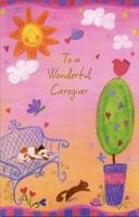 Backyard Animals: Caregiver (1 card/1 envelope) - Valentine's Day Card - FRONT: To a Wonderful Caregiver  INSIDE: Thanks for being thoughtful� thanks for your good care� You make the world a warmer place just by being there. Happy Valentine's Day