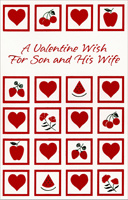 Fruit, Flowers and Hearts: Son (1 card/1 envelope) - Valentine's Day Card