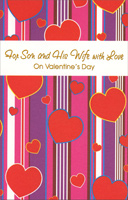Hearts on Stripes: Son (1 card/1 envelope) Freedom Greetings Valentine's Day Card