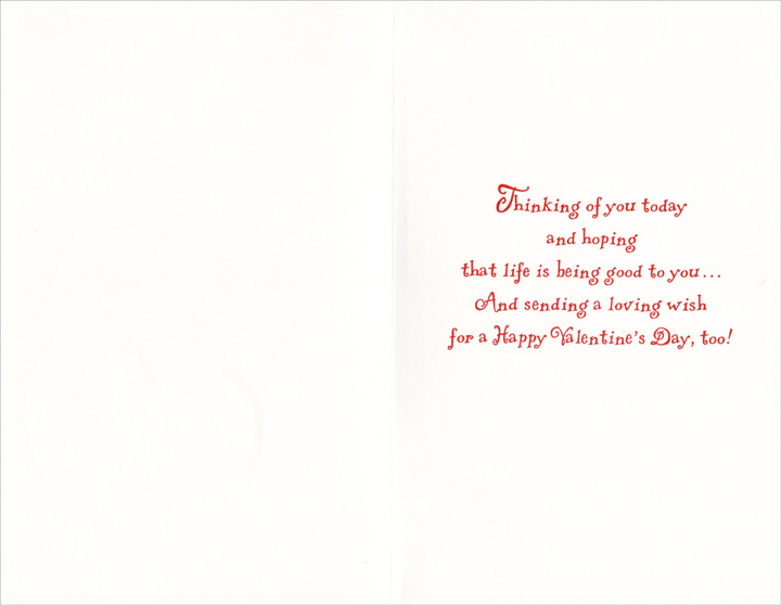 Heart & Rainbow: Nephew (1 card/1 envelope) Freedom Greetings Valentine's Day Card - FRONT: For a Special Nephew on Valentine's Day  INSIDE: Thinking of you today and hoping that life is being good to you� And sending a loving wish for a Happy Valentine's Day, too!