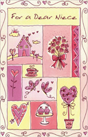 Comforts of Home: Niece (1 card/1 envelope) - Valentine's Day Card