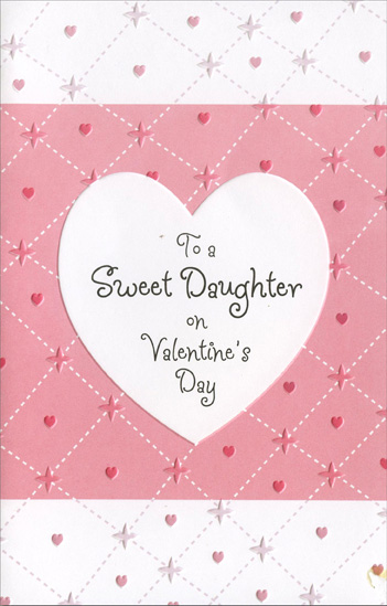 Embossed heart pink stitches daughter valentines day card by embossed heart pink stitches daughter valentines day card by freedom greetings m4hsunfo