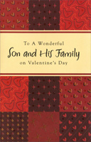 Earthtone Patchwork: Son (1 card/1 envelope) - Valentine's Day Card