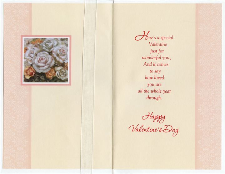 Floral Bouquet on Table: Granddaughter (1 card/1 envelope) Freedom Greetings Valentine's Day Card - FRONT: For a Sweet Granddaughter  INSIDE: Here's a special Valentine just for wonderful you, and it comes to say how loved you are all the whole year through. Happy Valentine's Day