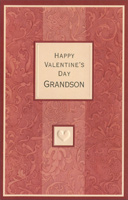 Muted Stripes: Grandson (1 card/1 envelope) - Valentine's Day Card