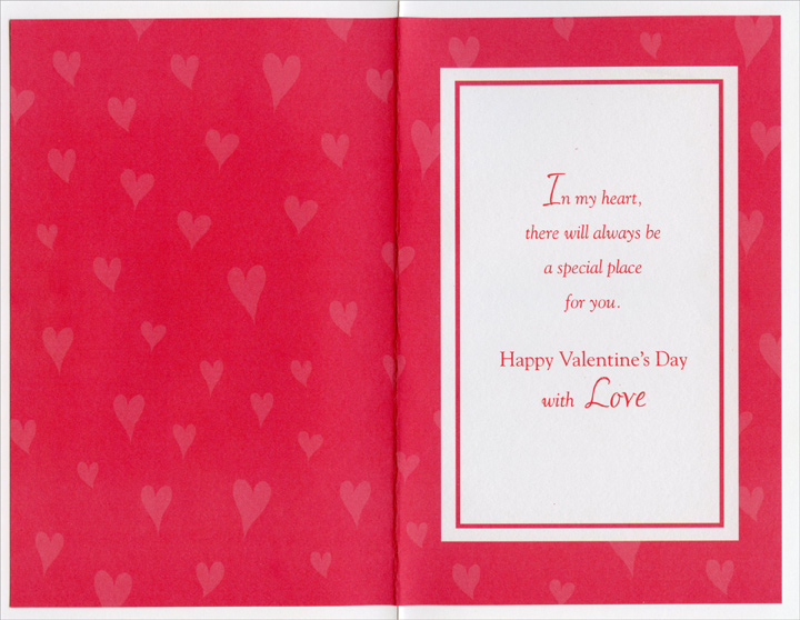 Two Roses Form Heart: Aunt (1 card/1 envelope) - Valentine's Day Card - FRONT: For a Special Aunt on Valentine's Day  INSIDE: In my heart, there will always be a special place for you. Happy Valentine's Day with Love