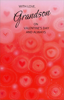 Hearts and Circles: Grandson (1 card/1 envelope) - Valentine's Day Card