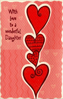 Tower of Hearts: Daughter (1 card/1 envelope) Freedom Greetings Valentine's Day Card