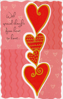Tower of Hearts: Special Thoughts (1 card/1 envelope) - Valentine's Day Card