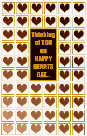 Happy Hearts Day: Thinking of You (1 card/1 envelope) - Valentine's Day Card - FRONT: Thinking of You on Happy Hearts Day�  INSIDE: Whatever your heart wishes true, that's what this thought wishes especially for you! Happy Valentine's Day