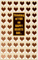 Happy Hearts Day: Thinking of You (1 card/1 envelope) - Valentine's Day Card