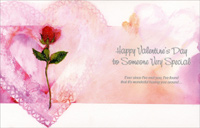 Long Stem Rose: Special Someone (1 card/1 envelope) Freedom Greetings Valentine's Day Card