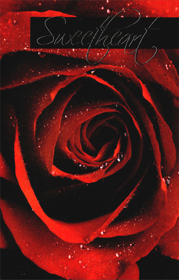 Extra Large Red Rose: Sweetheart (1 card/1 envelope) Freedom Greetings Valentine's Day Card - FRONT: Sweetheart  INSIDE: Loving you means more to me than anything in the world. When I'm with you, I'm the best person I can be. You make me smile, you make me laugh, you make my life wonderful. And I'll always do my best to make it wonderful for you! Happy Valentine's Day