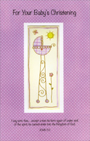 Baby Bassinet Polka Dots (1 card/1 envelope) - Christening Card - FRONT: For Your Baby's Christening - I say unto thee� except a man be born again of water and of the spirit, he cannot enter into the Kingdom of God. JOHN 3-5  INSIDE: A Christening is a promise that your little one will receive a place within the Kingdom of God meant for all those who believe. - God Bless the Whole Family