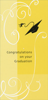 Embossed Cap on Yellow Background (1 card/1 envelope) Freedom Greetings Graduation Money Holder