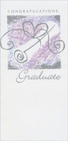 White Diploma with Silver Foil Accents (1 card/1 envelope) Freedom Greetings Graduation Money Holder