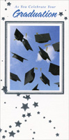 Graduation Caps and Blue Sky (1 card/1 envelope) Freedom Greetings Graduation Money Holder