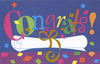 Confetti and Diploma Die Cut (1 card/1 envelope) Freedom Greetings Graduation Card