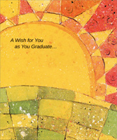 Rising Sun with Gold Foil Swirls (1 card/1 envelope) Freedom Greetings Graduation Card