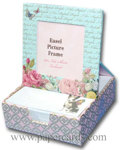 Princess Butterfly Graphique de France Desk Frame - FRONT: I like stylish people  INSIDE: I like stylish people