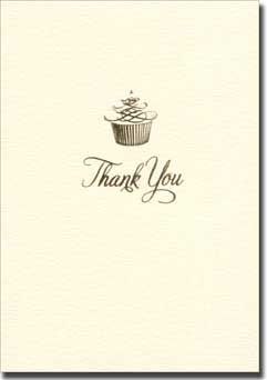 Cupcake Swirl (10 cards/10 envelopes) Graphique de France Boxed Thank You Cards - FRONT: Thank You