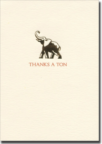 Thanks a Ton (10 cards/10 envelopes) Graphique de France Boxed Thank You Cards - FRONT: THANKS A TON