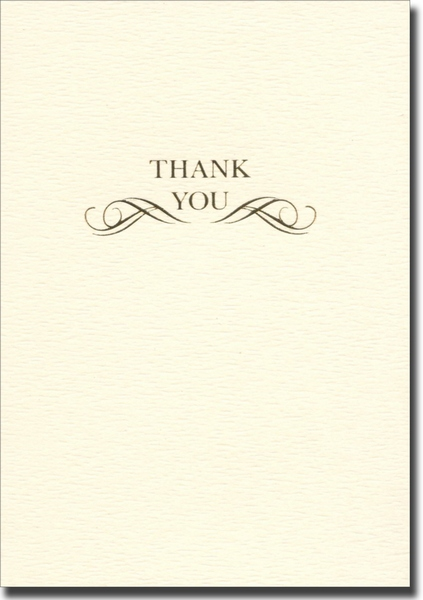 Scroll (10 cards/10 envelopes) Graphique de France Boxed Thank You Cards - FRONT: THANK YOU