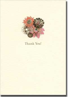 London Floral (10 cards/10 envelopes) Graphique de France Boxed Thank You Cards - FRONT: Thank You!