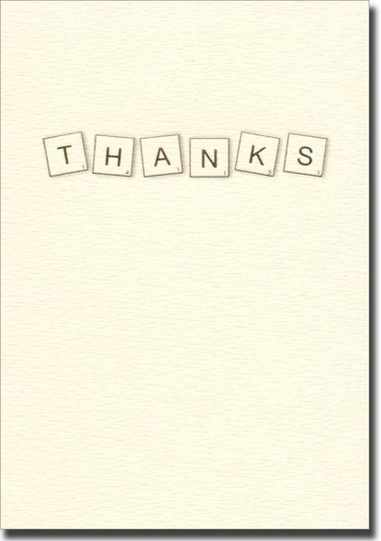 Thanks Letters (10 cards/10 envelopes) Graphique de France Boxed Thank You Cards - FRONT: THANKS