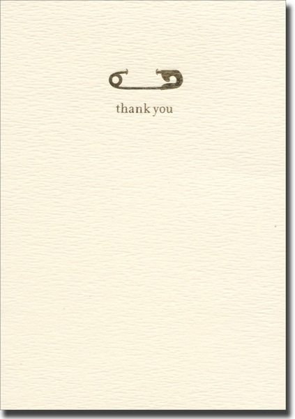 Baby Pin (10 cards/10 envelopes) Graphique de France Boxed Thank You Cards - FRONT: thank you