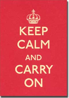 Keep Calm and Carry On (20 cards/20 envelopes) Graphique de France Boxed Thank You Cards - FRONT: KEEP CALM AND CARRY ON